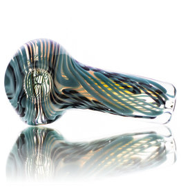 Citrus Chris SOLD Glass Dry Pipe Azul Black Cane over Fume I/O Thick Pipe by Chris Citrus