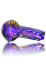 Citrus Chris Glass Dry Pipe Green Blue Cane over Fume I/O Thick Pipe by Chris Citrus