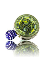 14mm UV accented Glass Bong Slide Fully Worked Slide w/ Handle Keith Engelmann (C) by Witch DR