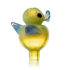 Ryno SOLD 25mm Glass Bubble Carb Cap Cloudy Yoshi by RYNO