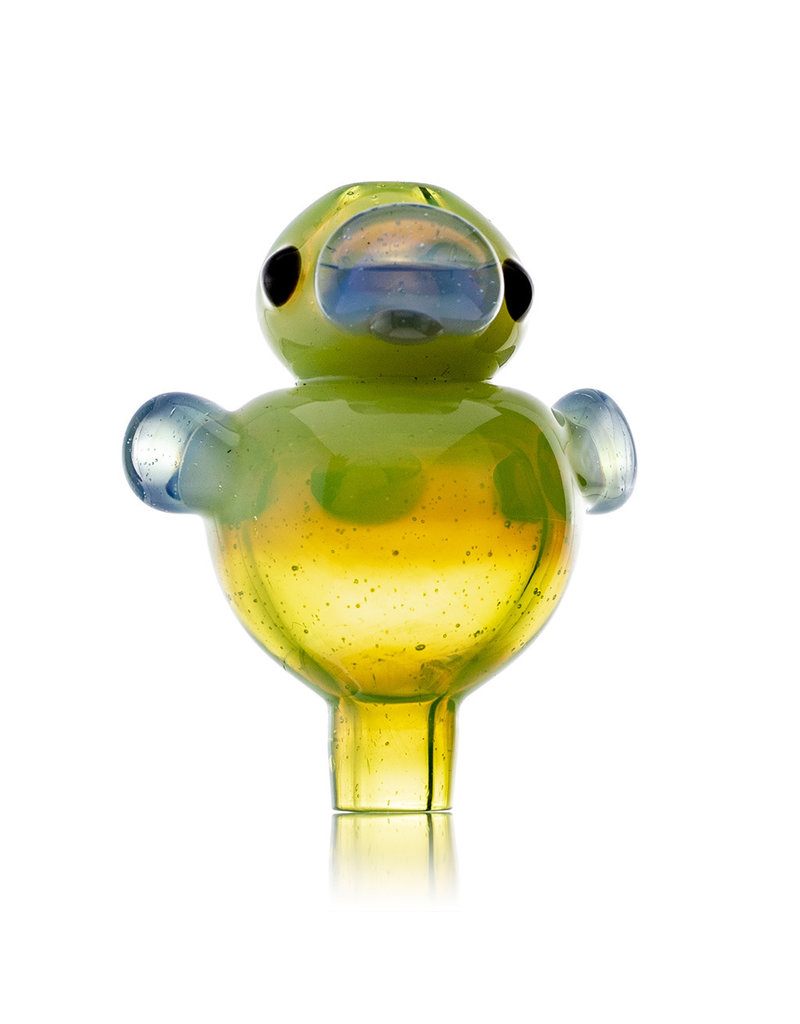 Ryno 25mm Glass Bubble Carb Cap Cloudy Yoshi by RYNO