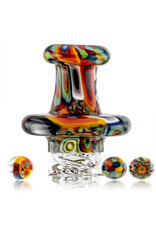 Hollinger Directional Carb Cap (A) Rainbow Tie Dye Chipstack Spinner Cap Set