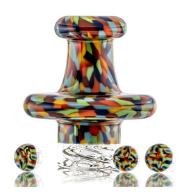 Hollinger SOLD Directional Carb Cap (B) Rainbow Tie Dye Chipstack Spinner Cap Set by Hollinger