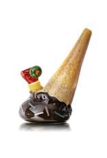 Christina Cody Glass Bubbler Water Pipe Chocolate Ice Cream Cone by Christina Cody