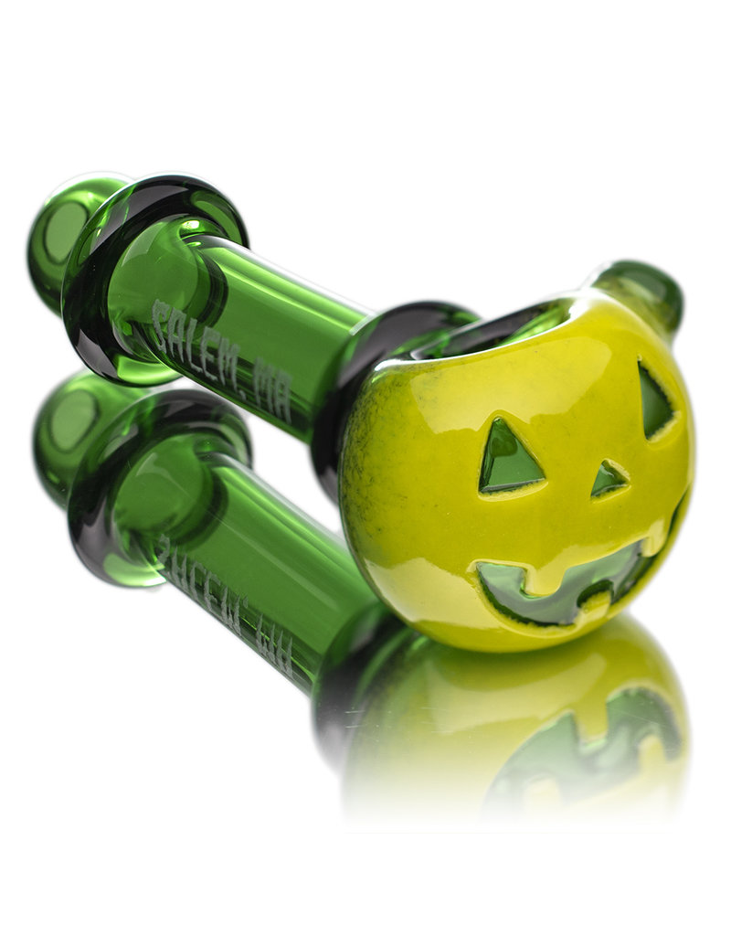 Witch DR Glass Pipe Dry DOCtober Pumpkin Pipe (A) by Witch Dr Studio