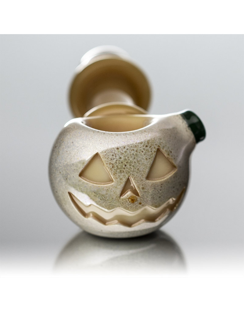 Witch DR Glass Pipe Dry DOCtober Pumpkin Pipe (B) by Witch Dr Studio