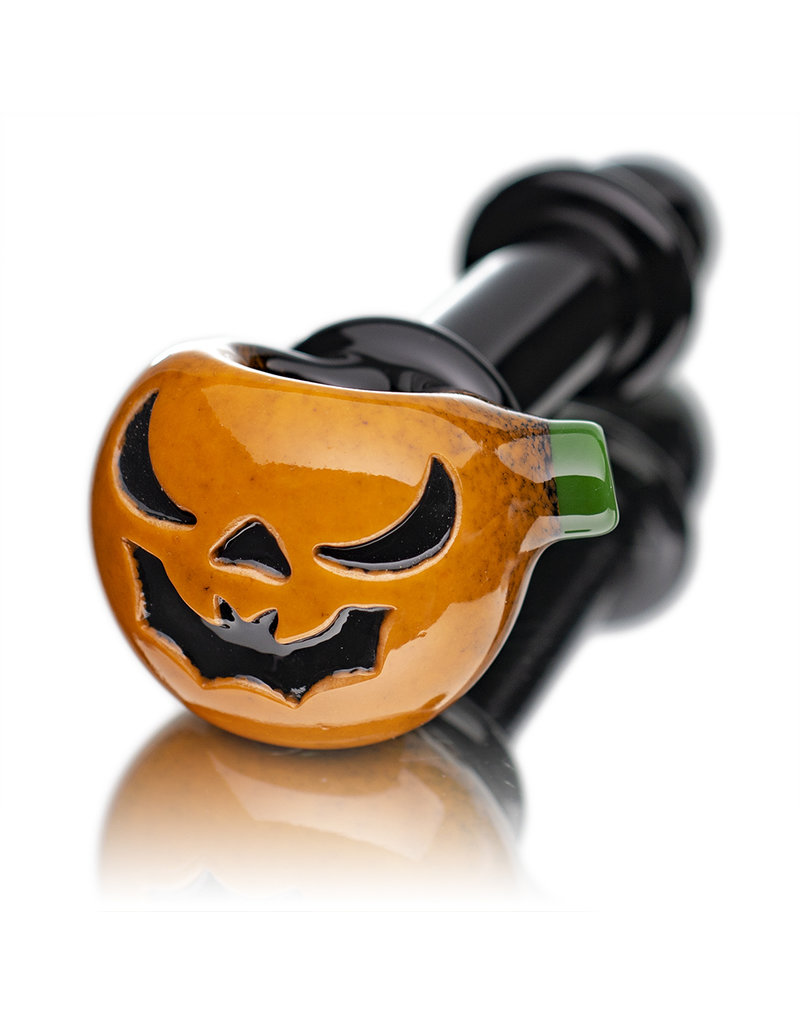 Witch DR Glass Pipe Dry DOCtober Pumpkin Pipe (G) by Witch Dr Studio
