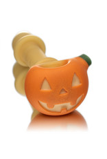 Witch DR Glass Pipe Dry DOCtober Pumpkin Pipe (C) by Witch Dr Studio