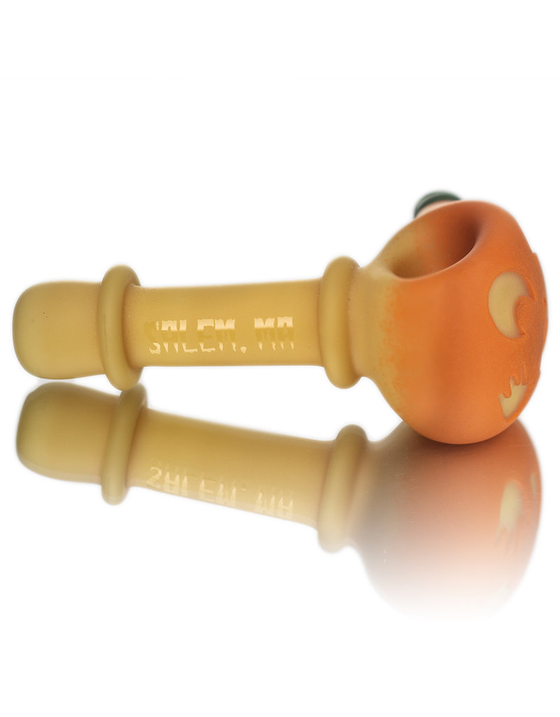Witch DR Glass Pipe Dry DOCtober Pumpkin Pipe (D) by Witch Dr Studio