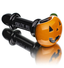 Witch DR SOLD Glass Pipe Dry DOCtober Pumpkin Pipe (H) by Witch Dr Studio