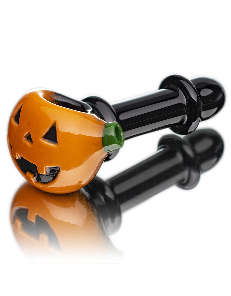 Witch DR Glass Pipe Dry DOCtober Pumpkin Pipe (H) by Witch Dr Studio