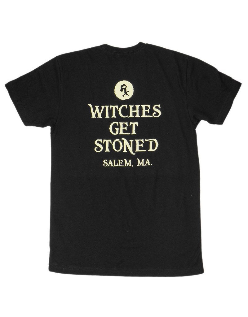 Witch DR Witches Get Stoned Salem MA Black T-Shirt