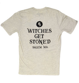 Witch DR Witches Get Stoned Salem MA Cream T-Shirt