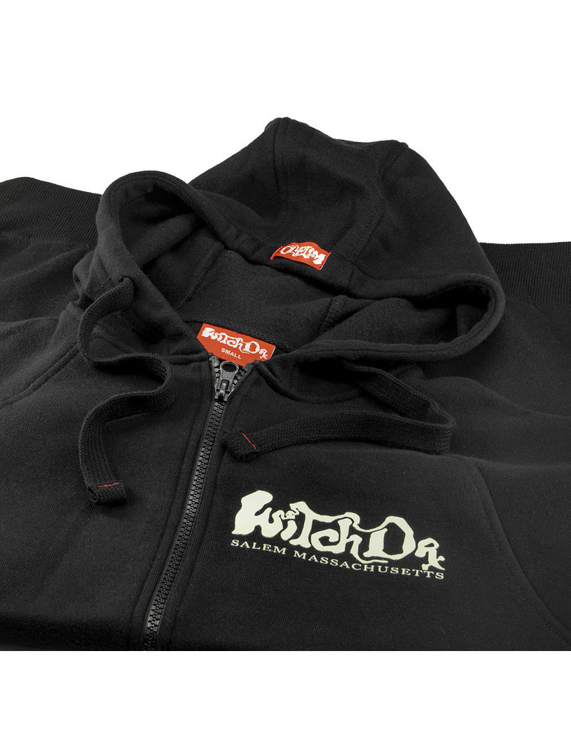 Witch DR ONLINE Witches Get Stoned Salem MA Zip Up Hoodie