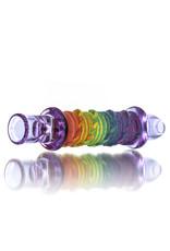 "Multiverse 3"" Glass Chillum Hemp Wrapped Rainbow by Multiverse Glass"