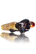 Christina Cody Glass Pendant CHOCOLATE Ice Cream Cone Spoon Dry Pipe by Christina Cody