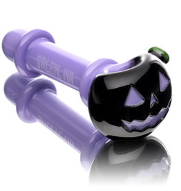 Witch DR SOLD Glass Pipe Dry DOCtober Pumpkin Pipe (I) by Witch Dr Studio