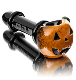 Witch DR SOLD Glass Pipe Dry DOCtober Pumpkin Pipe (J) by Witch Dr Studio