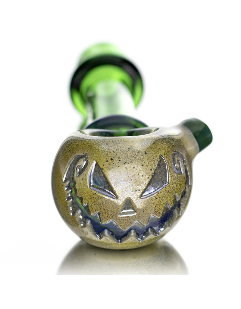 Witch DR Glass Pipe Dry DOCtober Pumpkin Pipe (K) by Witch Dr Studio