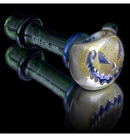 Witch DR SOLD Glass Pipe Dry DOCtober Pumpkin Pipe (K) by Witch Dr Studio