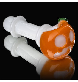 Witch DR SOLD Glass Pipe Dry DOCtober Pumpkin Pipe (N) by Witch Dr Studio