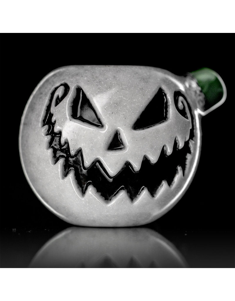 Witch DR Glass Pipe Dry DOCtober Pumpkin Pipe (N) by Witch Dr Studio