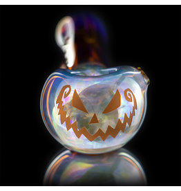 Witch DR SOLD Glass Pipe Dry DOCtober Classic Fume Pumpkin Pipe (B) by Witch Dr Studio