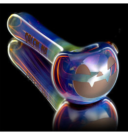 Witch DR SOLD Glass Pipe Dry DOCtober Classic Fume Pumpkin Pipe (C) by Witch Dr Studio