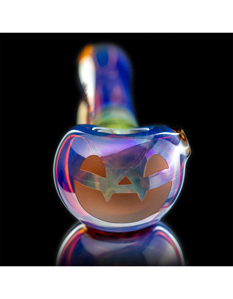 Witch DR Glass Pipe Dry DOCtober Classic Fume Pumpkin Pipe (C) by Witch Dr Studio