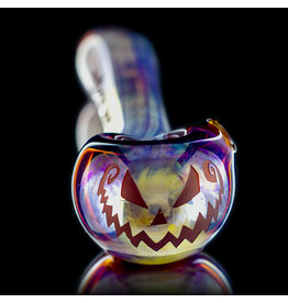 Witch DR SOLD Glass Pipe Dry DOCtober Classic Fume Pumpkin Pipe (D) by Witch Dr Studio