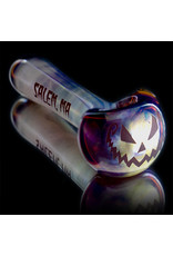 Witch DR Glass Pipe Dry DOCtober Classic Fume Pumpkin Pipe (D) by Witch Dr Studio
