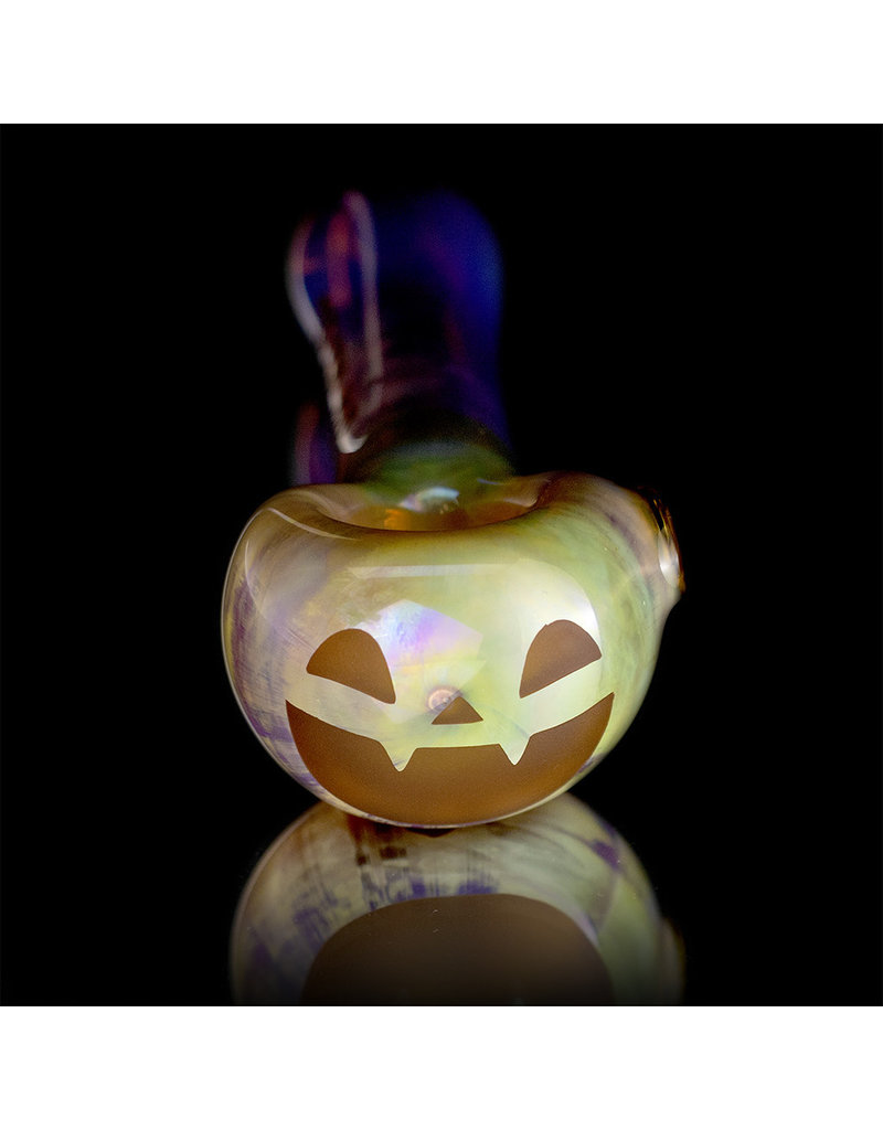Witch DR Glass Pipe Dry DOCtober Pumpkin Pipe (Y) by Witch Dr Studio