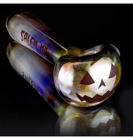Witch DR SOLD Glass Pipe Dry DOCtober Pumpkin Pipe (AA) by Witch Dr Studio