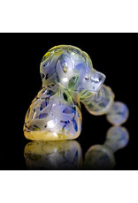 Etched Fumed Glass Dry Pipe Meaggalodon x Kevin Engelmann Daily Driver