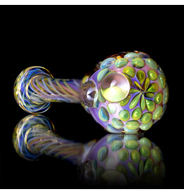 Gasp SOLD Glass Pipe DRY Gasp Fume Spoon (A)