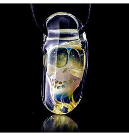 Bob Snodgrass SOLD Glass Pendant Bob Snodgrass Skull (B)