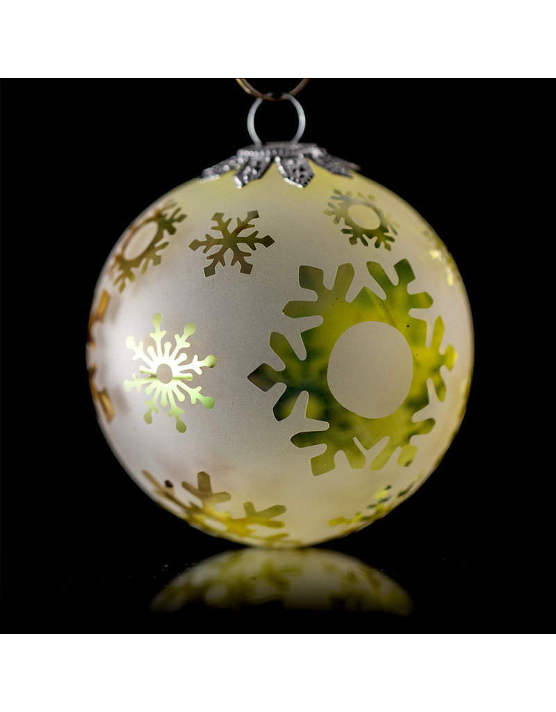 Witch DR Decorative Frosted Fume Glass Ornament Snowball (A) by Witch DR
