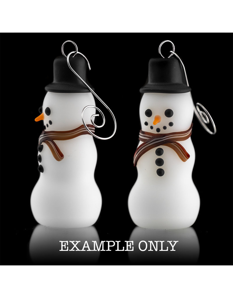 Witch DR Glass Ornament Snowman One Hitter (B) by Kevin Engelmann