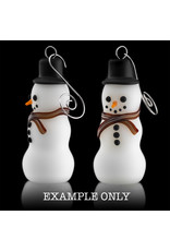 Witch DR Glass Ornament Snowman One Hitter (A) by Kevin Engelmann