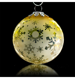 Witch DR SOLD Decorative Frosted Fume Glass Ornament Snowball (B) by Witch DR