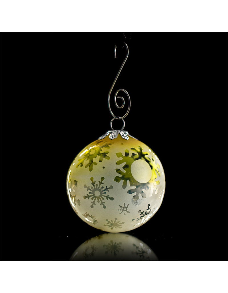 Witch DR Decorative Frosted Fume Glass Ornament Snowball (B) by Witch DR