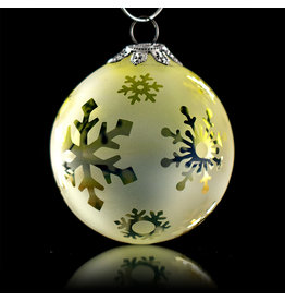 Witch DR Decorative Frosted Fume Glass Ornament Snowball (C) by Witch DR