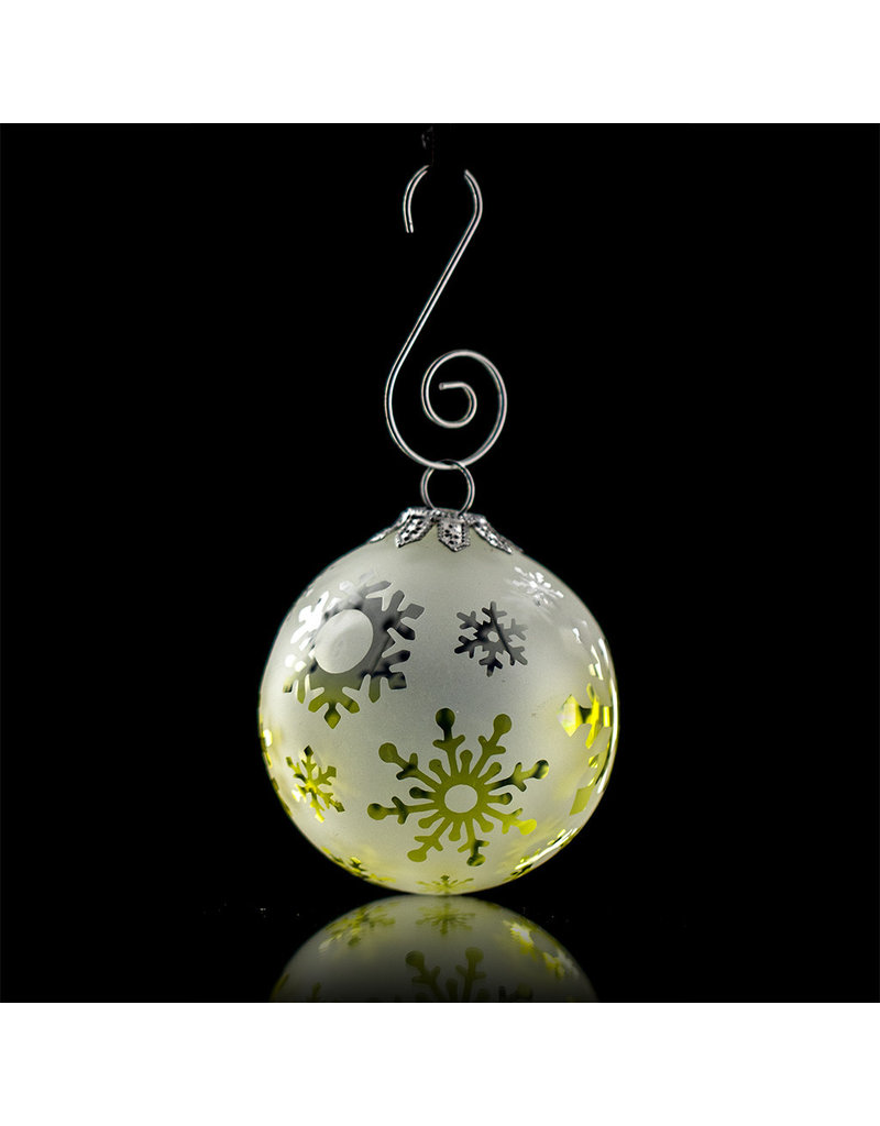 Witch DR Decorative Frosted Fume Glass Ornament Snowball (D)