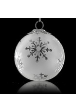 Witch DR Decorative Frosted Clear Glass Ornament Snowball (A) by Witch DR