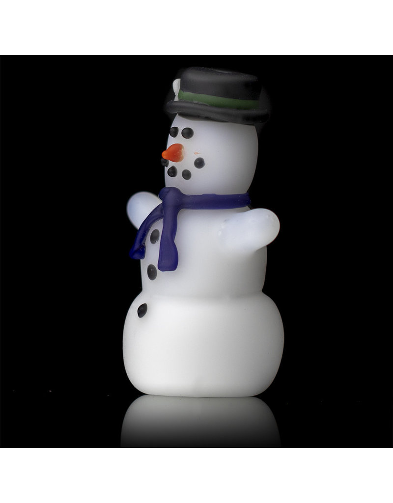 Tammy Baller Glass Pipe DRY Frosted Glass Snowman (B) by Tammy Baller