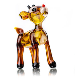 Tammy Baller SOLD Glass Pipe DRY Rudolph The Reindeer (A) by Tammy Baller