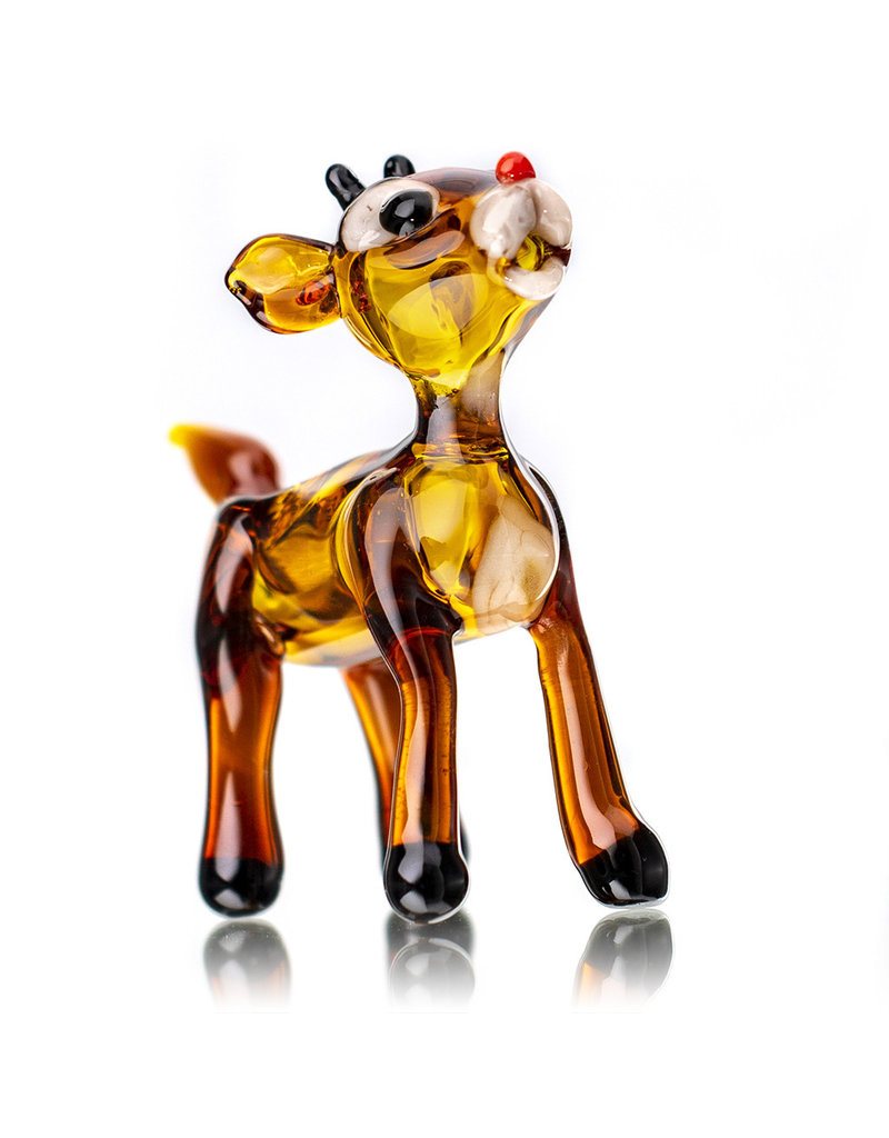 Tammy Baller Glass Pipe DRY Rudolph The Reindeer (A) by Tammy Baller