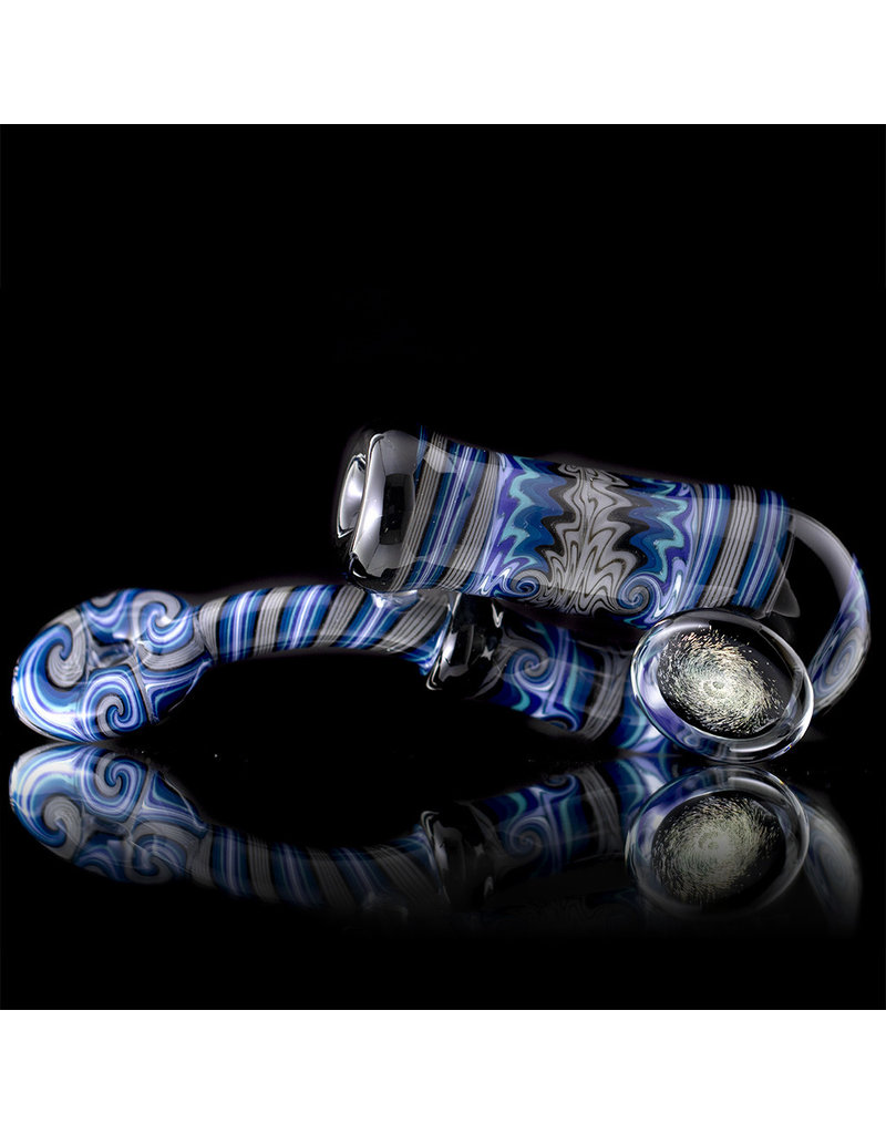 Mike Fro Fully Worked Glass Sherlock Dry Pipe by Mike Fro (K)