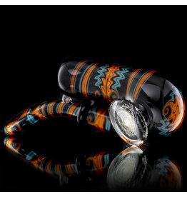 Mike Fro SOLD Fully Worked Glass Sherlock Dry Pipe by Mike Fro (J)