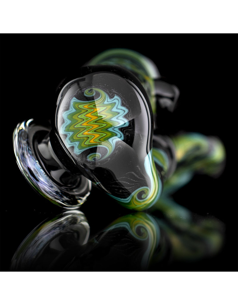 Mike Fro Fully Worked Glass Sherlock Dry Pipe by Mike Fro (I)